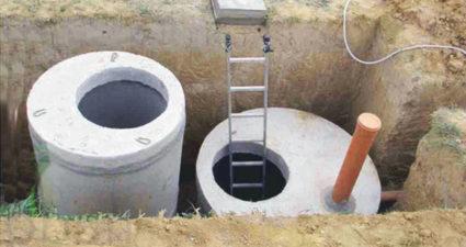 Канализация из бетонных колец. Как сделать колодец или септик.