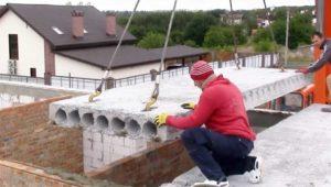 Плиты перекрытия для частного дома. Размеры и правила монтажа